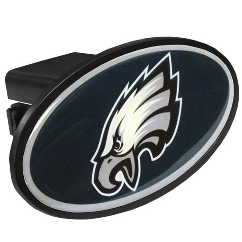 Philadelphia Eagles Plastic Hitch Cover - Officially licensed NFL plastic hitch cover with team logo design. Fits class III hitch receivers. Officially licensed NFL product Licensee: Siskiyou Buckle .com