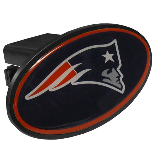 New England Patriots Plastic Hitch Cover - Officially licensed NFL plastic hitch cover with team logo design. Fits class III hitch receivers. Officially licensed NFL product Licensee: Siskiyou Buckle .com