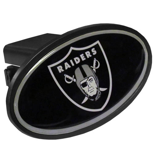Oakland Raiders Plastic Hitch Cover - Officially licensed NFL plastic hitch cover with team logo design. Fits class III hitch receivers. Officially licensed NFL product Licensee: Siskiyou Buckle Thank you for visiting CrazedOutSports.com