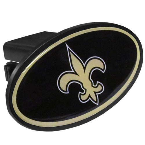 New Orleans Saints Plastic Hitch Cover - Officially licensed NFL plastic hitch cover with team logo design. Fits class III hitch receivers. Officially licensed NFL product Licensee: Siskiyou Buckle .com
