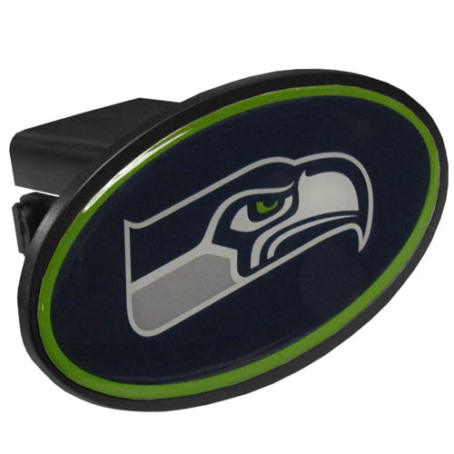 Seattle Seahawks Plastic Hitch Cover - Officially licensed NFL plastic hitch cover with team logo design. Fits class III hitch receivers. Officially licensed NFL product Licensee: Siskiyou Buckle .com
