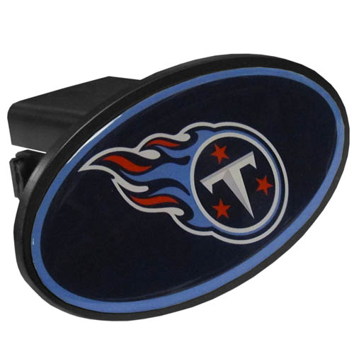 Tennessee Titans Plastic Hitch Cover - Officially licensed NFL plastic hitch cover with team logo design. Fits class III hitch receivers. Officially licensed NFL product Licensee: Siskiyou Buckle .com