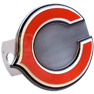 NFL Logo-Cut Hitch Cover - Chicago Bears - Show off your team pride with our logo-only hitch cover. The oversized logo is carved in detail and enameled in team colors. Available for Class II and Class III Hitches (plugs included) and easy to install.  Officially licensed NFL product Licensee: Siskiyou Buckle .com