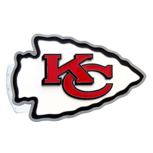 NFL Logo-Cut Hitch Cover - Kansas City Chiefs - Show off your team pride with our logo-only hitch cover. The oversized logo is carved in detail and enameled in team colors. Available for Class II and Class III Hitches (plugs included) and easy to install.  Officially licensed NFL product Licensee: Siskiyou Buckle Thank you for visiting CrazedOutSports.com