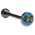 Jacksonville Jaguars Inlaid Barbell Tongue Ring - Show off your team pride with our officially licensed Jacksonville Jaguars  tongue ring. The 1 inch barbell features a photo epoxy inlay logo. Officially licensed NFL product Licensee: Siskiyou Buckle Thank you for visiting CrazedOutSports.com