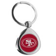 San Francisco 49ers Round Teardrop Key Chain