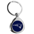 New England Patriots Round Teardrop Key Chain