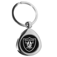 Oakland Raiders Round Teardrop Key Chain