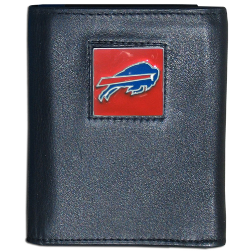 Buffalo Bills NFL Trifold Wallet  - Officially licensed Executive Buffalo Bills NFL Trifold Wallet are made of high quality fine grain leather with a sculpted Buffalo Bills team emblem. Check out our entire line of  NFL Buffalo Bills merchandise! Officially licensed NFL product Licensee: Siskiyou Buckle .com