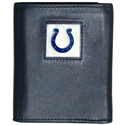 Indianapolis Colts NFL Trifold Wallet  - Officially licensed Executive Indianapolis Colts NFL Trifold Wallets are made of high quality fine grain leather with a sculpted Indianapolis Colts team emblem. Check out our entire line of  NFL Indianapolis Colts merchandise! Officially licensed NFL product Licensee: Siskiyou Buckle Thank you for visiting CrazedOutSports.com
