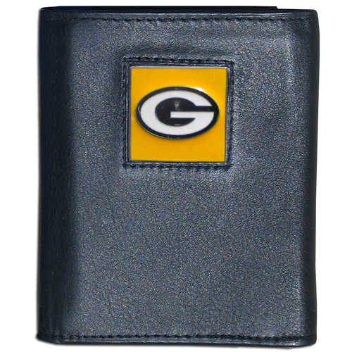 Green Bay Packers NFL Trifold Wallet  - Officially licensed Executive Green Bay Packers NFL Trifold Wallets are made of high quality fine grain leather with a sculpted Green Bay Packers team emblem. Check out our entire line of NFL Green Bay Packers merchandise! Officially licensed NFL product Licensee: Siskiyou Buckle Thank you for visiting CrazedOutSports.com