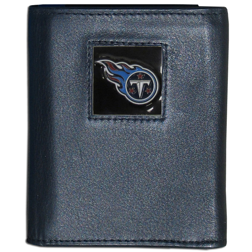Tennessee Titans NFL Trifold Wallet  - Officially licensed Executive Tennessee Titans NFL Trifold Wallets are made of high quality fine grain leather with a sculpted Tennessee Titans team emblem. Check out our entire line of NFL Tennessee Titans merchandise! Officially licensed NFL product Licensee: Siskiyou Buckle .com