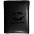 Chicago Bears Embossed Tri-fold Wallet - Officially licensed Chicago Bears embossed tri-fold wallet looks great and is affordably priced. The Chicago Bears Embossed Tri-fold Wallet has the classy feel of a much higher priced wallet and features an embossed Chicago Bears logo on the front. The Chicago Bears Embossed Tri-fold Wallet has a windowed ID slot, lots of credit card slots and 2 big bill-fold pockets and removable plastic picture insert. Officially licensed NFL product Licensee: Siskiyou Buckle Thank you for visiting CrazedOutSports.com