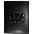 Cincinnati Bengals Embossed Tri-fold Wallet - Officially licensed Cincinnati Bengals Embossed Tri-fold Wallet looks great and is affordably priced. The Cincinnati Bengals Embossed Tri-fold Wallet has the classy feel of a much higher priced wallet and features an embossed Cincinnati Bengals logo on the front. The Cincinnati Bengals Embossed Tri-fold Wallet has a windowed ID slot, lots of credit card slots and 2 big bill-fold pockets and removable plastic picture insert. Officially licensed NFL product Licensee: Siskiyou Buckle .com