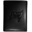 Tampa Bay Buccaneers Embossed Tri-fold Wallet - Officially licensed Tampa Bay Buccaneers Embossed Tri-fold Wallet looks great and is affordably priced. The Tampa Bay Buccaneers Embossed Tri-fold Wallet has the classy feel of a much higher priced wallet and features an embossed Tampa Bay Buccaneers logo on the front. The Tampa Bay Buccaneers Embossed Tri-fold Wallet has a windowed ID slot, lots of credit card slots and 2 big bill-fold pockets and removable plastic picture insert. Officially licensed NFL product Licensee: Siskiyou Buckle .com