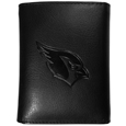 Arizona Cardinals Embossed Tri-fold Wallet - Officially licensed Arizona Cardinals Embossed Tri-fold Wallet looks great and is affordably priced. The Arizona Cardinals Embossed Tri-fold Wallet has the classy feel of a much higher priced wallet and features an embossed Arizona Cardinals logo on the front. The Arizona Cardinals Embossed Tri-fold Wallet has a windowed ID slot, lots of credit card slots and 2 big bill-fold pockets and removable plastic picture insert. Officially licensed NFL product Licensee: Siskiyou Buckle .com