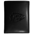 Kansas City Chiefs Embossed Tri-fold Wallet - Officially licensed Kansas City Chiefs Embossed Tri-fold Wallet looks great and is affordably priced. The Kansas City Chiefs Embossed Tri-fold Wallet has the classy feel of a much higher priced wallet and features an embossed Kansas City Chiefs logo on the front. The Kansas City Chiefs Embossed Tri-fold Wallet has a windowed ID slot, lots of credit card slots and 2 big bill-fold pockets and removable plastic picture insert. Officially licensed NFL product Licensee: Siskiyou Buckle .com