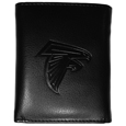 Atlanta Falcons Embossed Tri-fold Wallet - Officially licensed Atlanta Falcons Embossed Tri-fold Wallet looks great and is affordably priced. The Atlanta Falcons Embossed Tri-fold Wallet has the classy feel of a much higher priced wallet and features an embossed Atlanta Falcons logo on the front. The Atlanta Falcons Embossed Tri-fold Wallet has a windowed ID slot, lots of credit card slots and 2 big bill-fold pockets and removable plastic picture insert. Officially licensed NFL product Licensee: Siskiyou Buckle .com