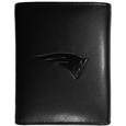 New England Patriots Embossed Tri-fold Wallet - Officially licensed New England Patriots Embossed Tri-fold Wallet looks great and is affordably priced. The New England Patriots Embossed Tri-fold Wallet has the classy feel of a much higher priced wallet and features an embossed New England Patriots logo on the front. The New England Patriots Embossed Tri-fold Wallet has a windowed ID slot, lots of credit card slots and 2 big bill-fold pockets and removable plastic picture insert. Officially licensed NFL product Licensee: Siskiyou Buckle .com