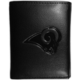 Los Angeles Rams Embossed Tri-fold Wallet - Officially licensed Los Angeles Rams Embossed Tri-fold Wallet looks great and is affordably priced. The Los Angeles Rams Embossed Tri-fold Wallet has the classy feel of a much higher priced wallet and features an embossed St. Louis Rams logo on the front. The Los Angeles Rams Embossed Tri-fold Wallet has a windowed ID slot, lots of credit card slots and 2 big bill-fold pockets and removable plastic picture insert. Officially licensed NFL product Licensee: Siskiyou Buckle .com