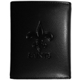 New Orleans Saints Embossed Tri-fold Wallet - Officially licensed New Orleans Saints Embossed Tri-fold Wallet looks great and is affordably priced. The New Orleans Saints Embossed Tri-fold Wallet has the classy feel of a much higher priced wallet and features an embossed New Orleans Saints logo on the front. The New Orleans Saints Embossed Tri-fold Wallet has a windowed ID slot, lots of credit card slots and 2 big bill-fold pockets and removable plastic picture insert. Officially licensed NFL product Licensee: Siskiyou Buckle .com