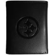 Pittsburgh Steelers Embossed Tri-fold Wallet - Officially licensed Pittsburgh Steelers Embossed Tri-fold Wallet looks great and is affordably priced. The Pittsburgh Steelers Embossed Tri-fold Wallet has the classy feel of a much higher priced wallet and features an embossed Pittsburgh Steelers logo on the front. The Pittsburgh Steelers Embossed Tri-fold Wallet has a windowed ID slot, lots of credit card slots and 2 big bill-fold pockets and removable plastic picture insert. Officially licensed NFL product Licensee: Siskiyou Buckle Thank you for visiting CrazedOutSports.com