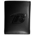 Baltimore Ravens Embossed Tri-fold Wallet - Officially licensed Baltimore Ravens Embossed Tri-fold Wallet looks great and is affordably priced. The Baltimore Ravens Embossed Tri-fold Wallet has the classy feel of a much higher priced wallet and features an embossed Baltimore Ravens logo on the front. The Baltimore Ravens Embossed Tri-fold Wallet has a windowed ID slot, lots of credit card slots and 2 big bill-fold pockets and removable plastic picture insert. Officially licensed NFL product Licensee: Siskiyou Buckle .com