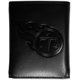 Tennessee Titans Embossed Tri-fold Wallet - Officially licensed Tennessee Titans Embossed Tri-fold Wallet looks great and is affordably priced. The Tennessee Titans Embossed Tri-fold Wallet has the classy feel of a much higher priced wallet and features an embossed Tennessee Titans logo on the front. The Tennessee Titans Embossed Tri-fold Wallet has a windowed ID slot, lots of credit card slots and 2 big bill-fold pockets and removable plastic picture insert. Officially licensed NFL product Licensee: Siskiyou Buckle .com