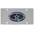 Dallas Cowboys Steel License Plate with Domed Emblem - Show off your team pride on your vehicle or mounted on your wall with this Dallas Cowboys stainless steel license plate with raised emblem with chrome border. Officially licensed NFL product Licensee: Siskiyou Buckle Thank you for visiting CrazedOutSports.com