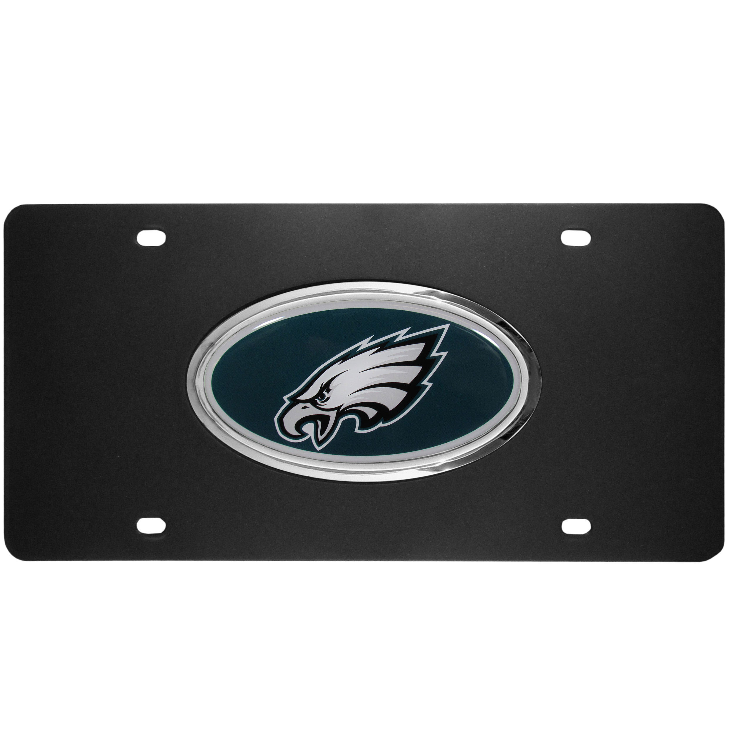Philadelphia Eagles Acrylic License Plate - Our Philadelphia Eagles acrylic license plate is a step above the rest. It is made of thick, durable acrylic with a matte black finish and raised chrome saddle for the extra large team emblem.