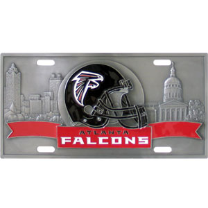 "Atlanta Falcons - 3D NFL License Plate - Falcons three dimensional license plate. Made for your automobile but also great to display at home or work. 11 3/4"" X 5 13/16"" Officially licensed NFL product Licensee: Siskiyou Buckle .com"