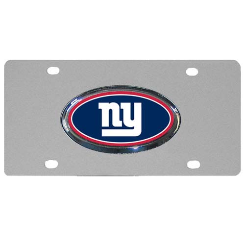 New York Giants Steel Plate - Accessorize your vehicle or game room with this unique NFL steel plate featuring your team's logo on a stainless steel plate.