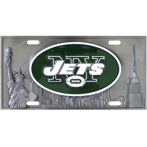 "New York Jets - 3D NFL License Plate - New York Jets three dimensional license plate. Made for your automobile but also great to display at home or work. 11 3/4"" X 5 13/16"" Officially licensed NFL product Licensee: Siskiyou Buckle Thank you for visiting CrazedOutSports.com"