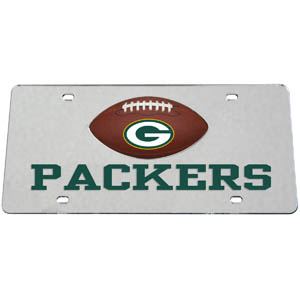 Green Bay Packers Mirrored Plate - Show off your team pride on your vehicle or mounted on your wall with this Green Bay Packers mirrored license plate. The plate has a mirrored acrylic front with the team name inlaid in laser cut acrylic and a team logo emblem.  Officially licensed NFL product Licensee: Siskiyou Buckle Thank you for visiting CrazedOutSports.com