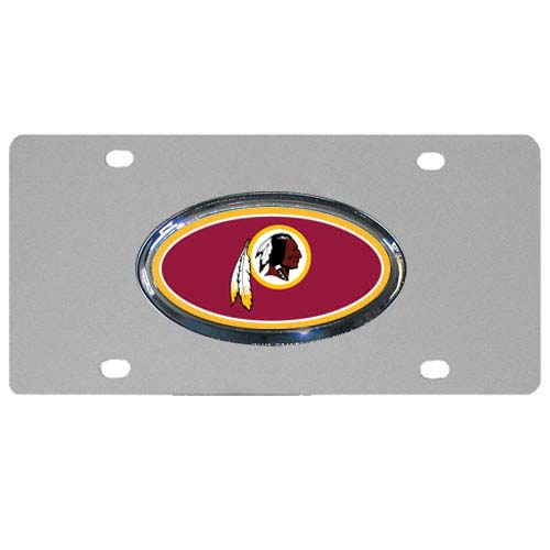 Washington Redskins Steel Plate - Accessorize your vehicle or game room with this unique NFL steel plate featuring your team's logo on a stainless steel plate.