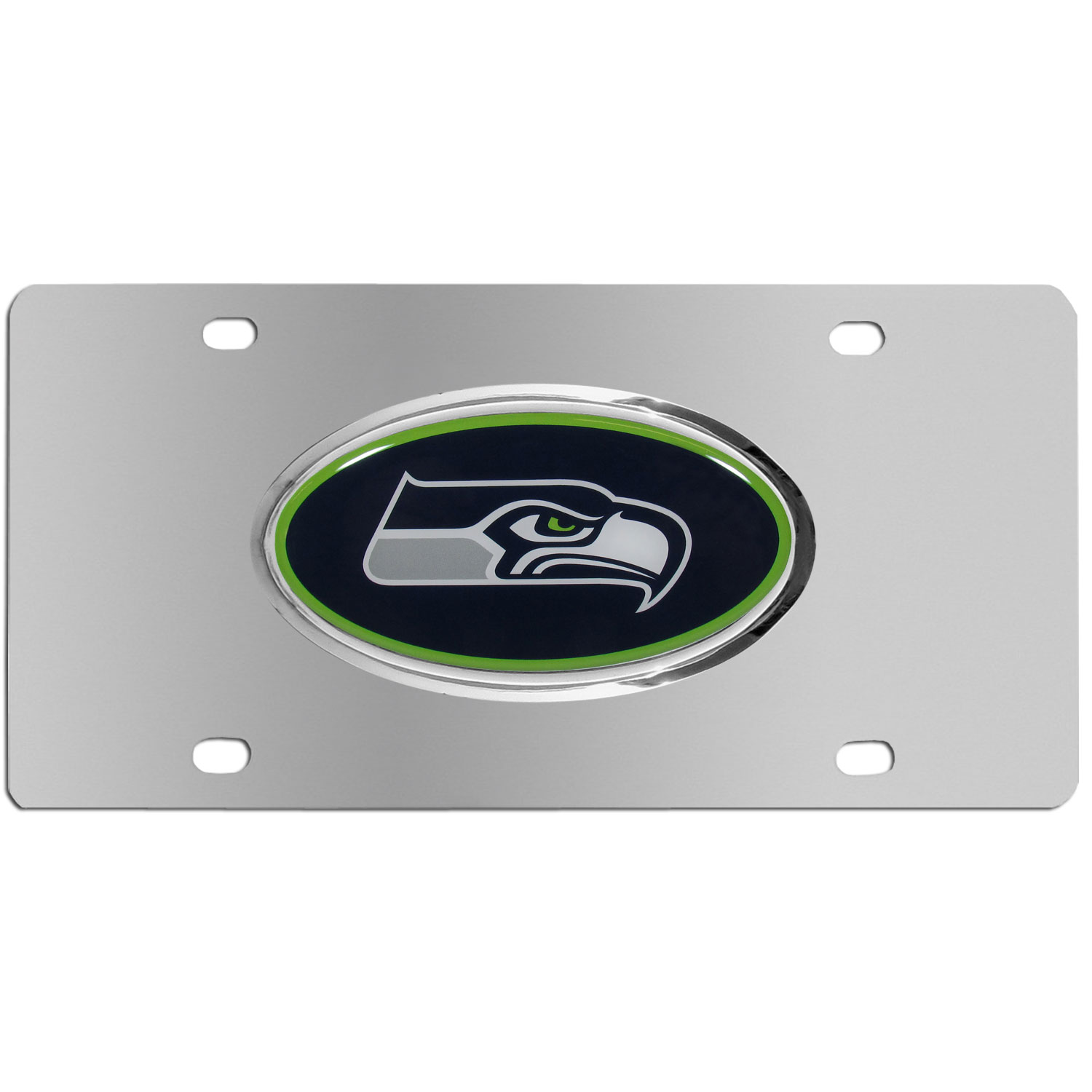 Seattle Seahawks Steel Plate - Accessorize your vehicle or game room with this unique NFL steel plate featuring your team's logo on a stainless steel plate.