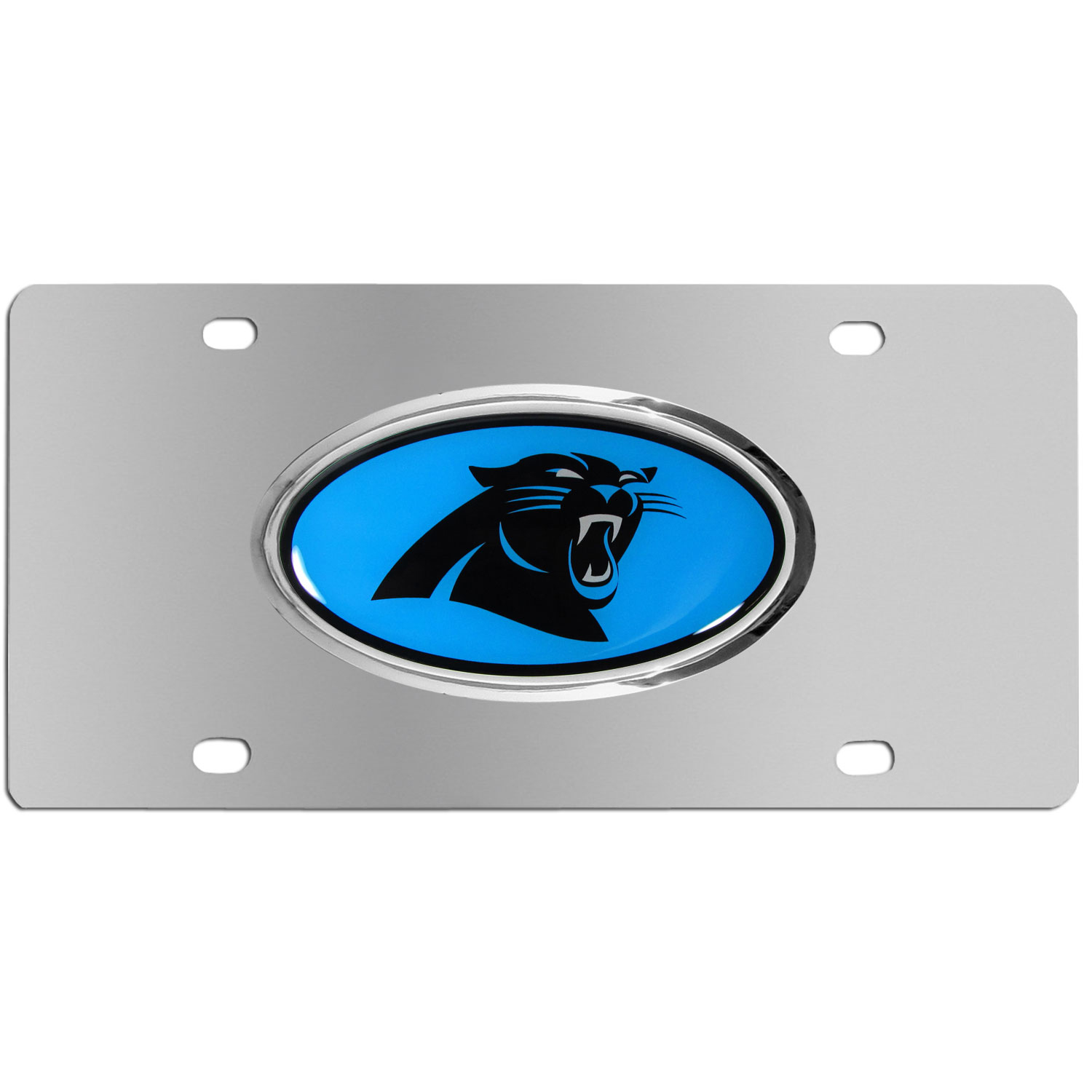 Carolina Panthers Steel Plate - Accessorize your vehicle or game room with this unique NFL steel plate featuring your team's logo on a stainless steel plate.