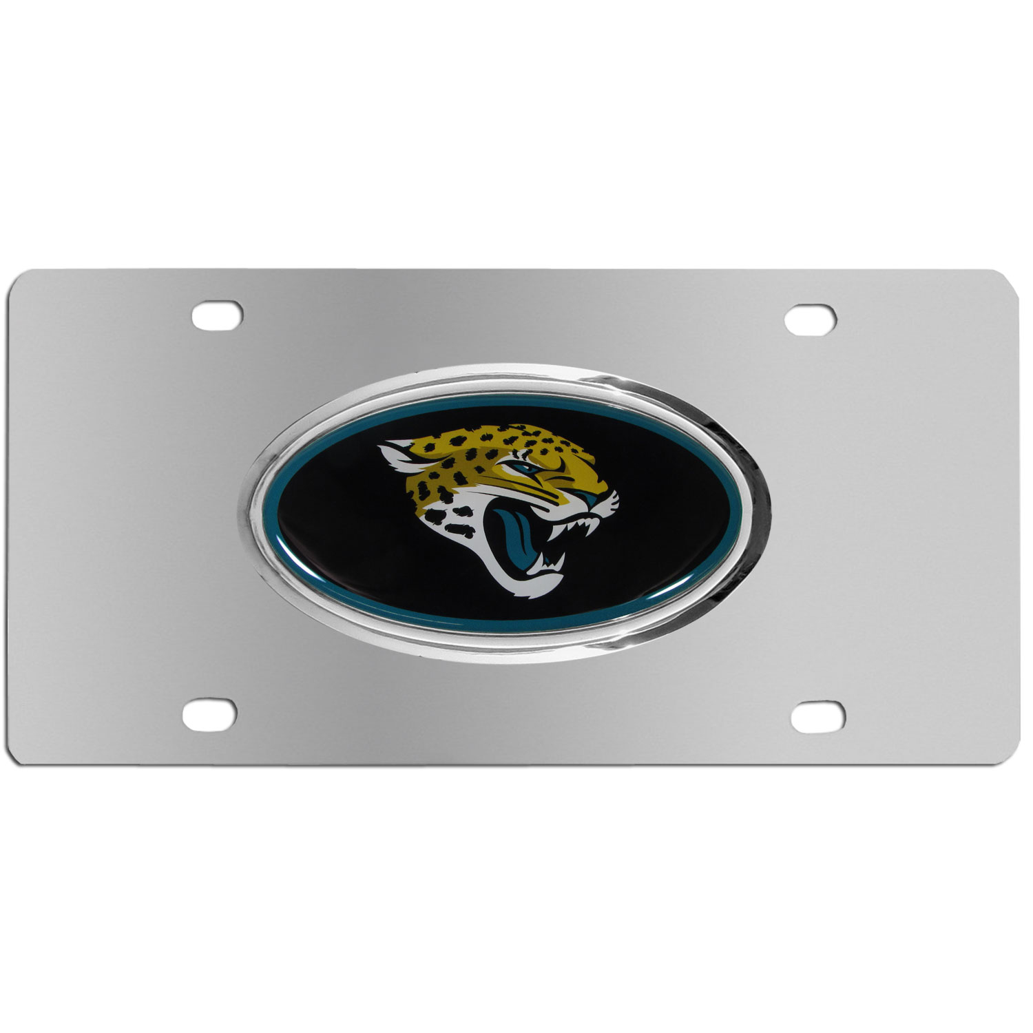 Jacksonville Jaguars Steel Plate - Accessorize your vehicle or game room with this unique NFL steel plate featuring your team's logo on a stainless steel plate.