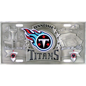 "Tennessee Titans - 3D NFL License Plate - Titans three dimensional license plate. Made for your automobile but also great to display at work or home. 11 3/4"" X 5 13/16"" Officially licensed NFL product Licensee: Siskiyou Buckle .com"