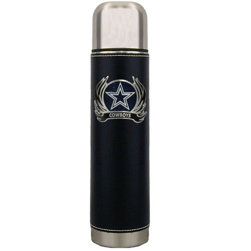 Dallas Cowboys Thermos - Keep your drinks piping hot for the big game with our NFL Dallas Cowboys thermos featuring a cast & enameled Dallas Cowboys emblem. Officially licensed NFL product Licensee: Siskiyou Buckle Thank you for visiting CrazedOutSports.com