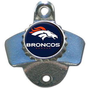 NFL Wall Bottle Opener - Denver Broncos - Our Denver Broncos sturdy wall mounted bottle opener is a great addition for your deck, garage or bar to show off your team spirit. Officially licensed NFL product Licensee: Siskiyou Buckle Thank you for visiting CrazedOutSports.com