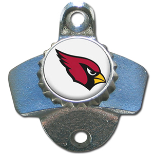 NFL Wall Bottle Opener - Arizona Cardinals - Our Arizona Cardinals sturdy wall mounted bottle opener is a great addition for your deck, garage or bar to show off your team spirit. Officially licensed NFL product Licensee: Siskiyou Buckle .com