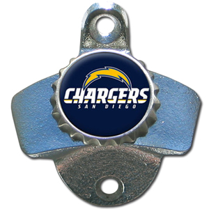 NFL Wall Bottle Opener - San Diego Chargers - Our San Diego Chargers sturdy wall mounted bottle opener is a great addition for your deck, garage or bar to show off your team spirit. Officially licensed NFL product Licensee: Siskiyou Buckle .com