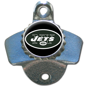 NFL Wall Bottle Opener - New York Jets - Our New York Jets sturdy wall mounted bottle opener is a great addition for your deck, garage or bar to show off your team spirit. Officially licensed NFL product Licensee: Siskiyou Buckle Thank you for visiting CrazedOutSports.com
