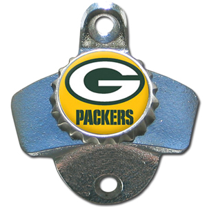NFL Wall Bottle Opener - Green Bay Packers - Our Green Bay Packers sturdy wall mounted bottle opener is a great addition for your deck, garage or bar to show off your team spirit. Officially licensed NFL product Licensee: Siskiyou Buckle Thank you for visiting CrazedOutSports.com