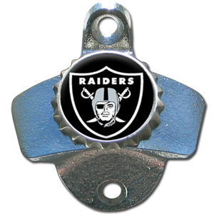 NFL Wall Bottle Opener - Oakland Raiders - Our Oakland Raiders sturdy wall mounted bottle opener is a great addition for your deck, garage or bar to show off your team spirit. Officially licensed NFL product Licensee: Siskiyou Buckle Thank you for visiting CrazedOutSports.com