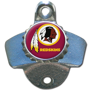 NFL Wall Bottle Opener - Washington Redskins - Our Washington Redskins sturdy wall mounted bottle opener is a great addition for your deck, garage or bar to show off your team spirit. Officially licensed NFL product Licensee: Siskiyou Buckle Thank you for visiting CrazedOutSports.com