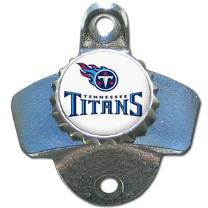 NFL Wall Bottle Opener - Tennessee Titans - Our Tennessee Titans sturdy wall mounted bottle opener is a great addition for your deck, garage or bar to show off your team spirit. Officially licensed NFL product Licensee: Siskiyou Buckle .com