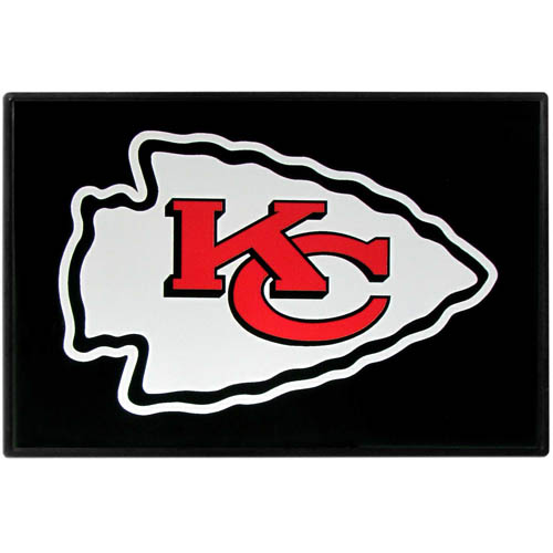 Kansas City Chiefs Game Day Wiper Flag - Our Kansas City Chiefs Game Day Wiper Flag is the first ever, sign-in-motion, that will display your team spirit as you're cruising the streets on game day! Keep your flag up year-round and swap out the interchangeable flag when needed. The flag easily attaches to the top of your windshield wiper or back of your bike. Remember to remove decal plate when entering the carwash.