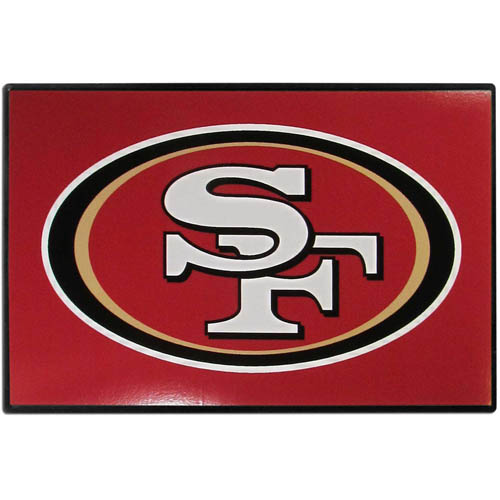 San Francisco 49ers Game Day Wiper Flag - Our San Francisco 49ers Game Day Wiper Flag is the first ever, sign-in-motion, that will display your team spirit as you're cruising the streets on game day! Keep your flag up year-round and swap out the interchangeable flag when needed. The flag easily attaches to the top of your windshield wiper or back of your bike. Remember to remove decal plate when entering the carwash.